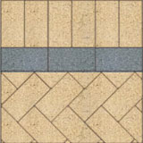 Herringbone paving pattern