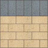 Stretcher bond paving pattern
