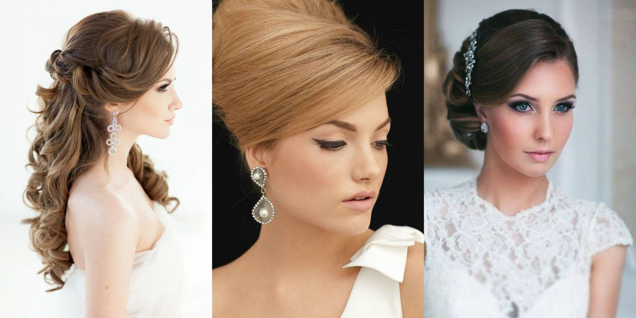 matching wedding earrings and hairstyles