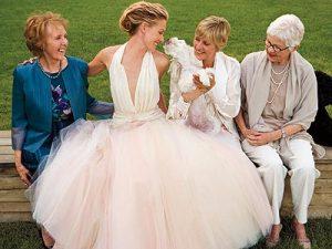 Portia De Rossi's Wedding Hairstyle