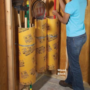 concrete forming tube storage