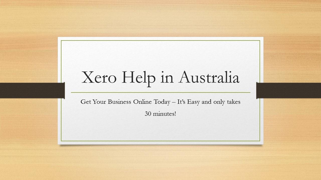 Xero Help Australia