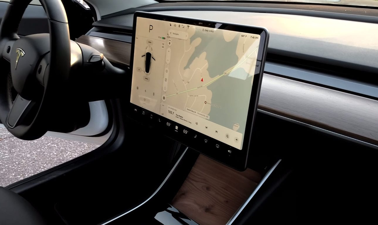 new car technology by Tesla