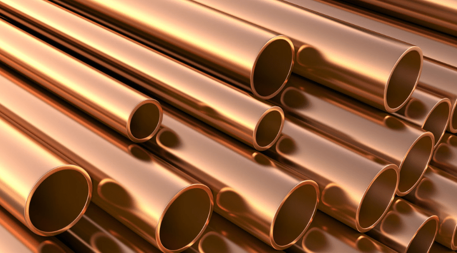Rigid Copper Plumbing Pipes
