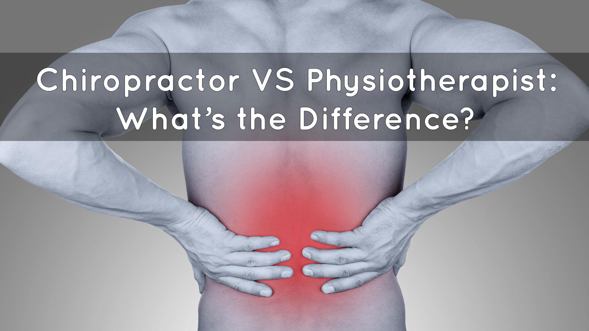 Chiropractor VS Physiotherapist Banner