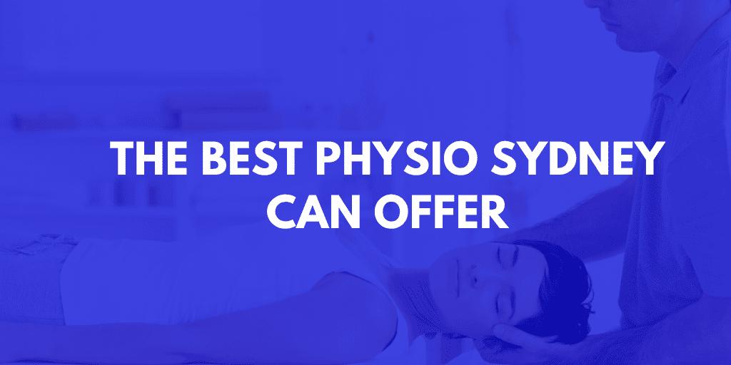 Best Physio Sydney Banner