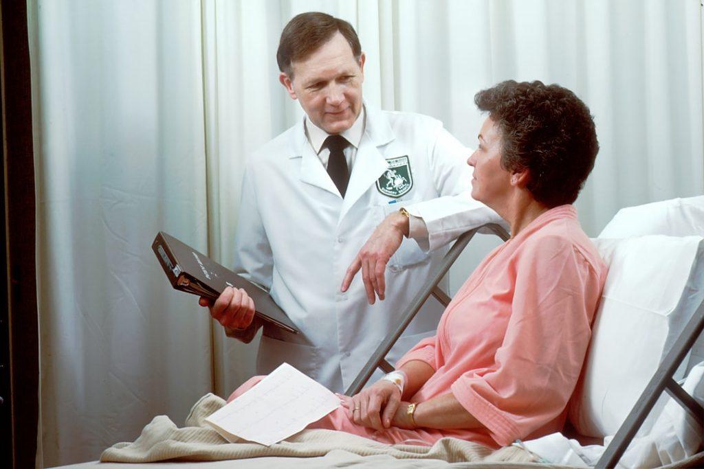 doctor visits patient