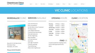 Clearskincare Clinic Mordialloc clinic