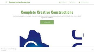 Complete Creative Constructions