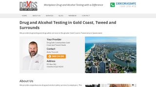 Drug-Safe Workplaces Gold Coast, Tweed