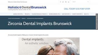 Zirconia Dental Implants Brunswick | Holistic Dental Brunswick