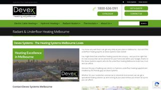 Devex Systems Floor Heating Melbourne