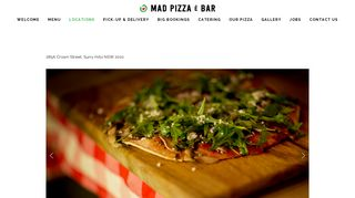 Mad Pizza E Bar Surry Hills