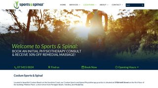 Sports & Spinal Physiotherapy Centre – Coolum