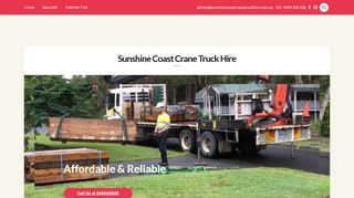 Sunshine Coast Crane Truck Hire
